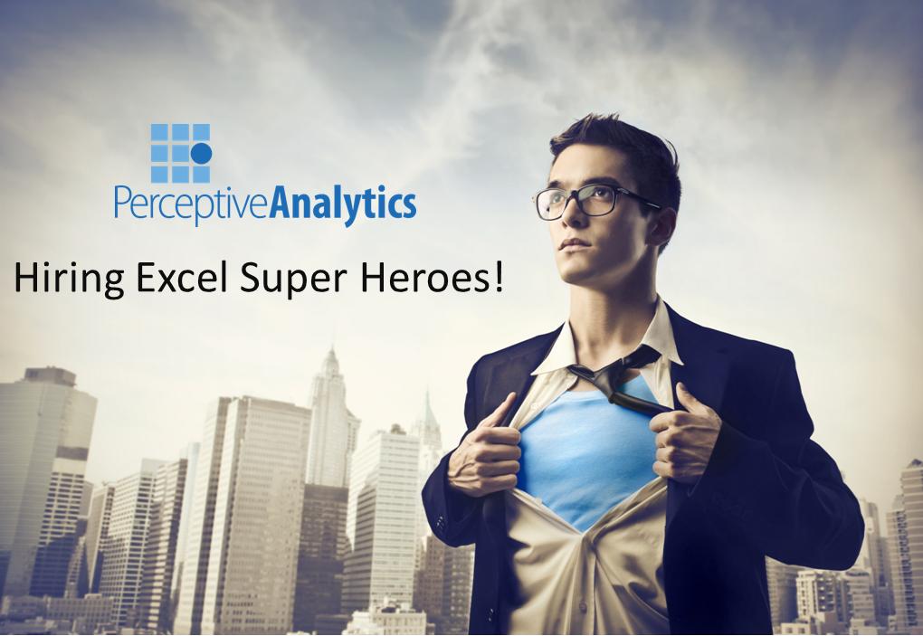 excel jobs perceptive analytics